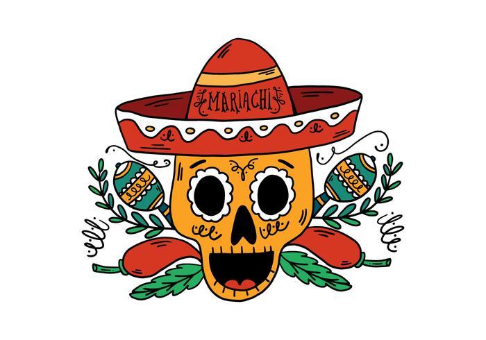 Sugar Skull Mariachi Background