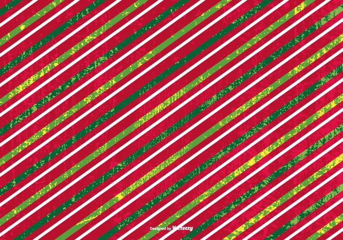 Grunge Striped Christmas Background
