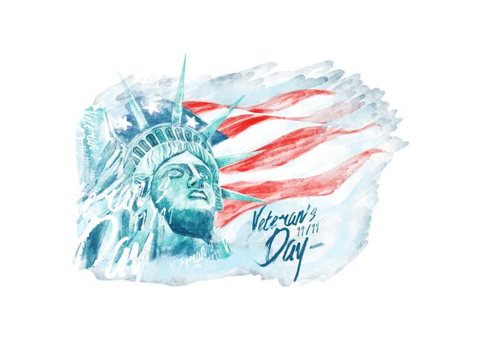 Veteran's Day Watercolor Vector