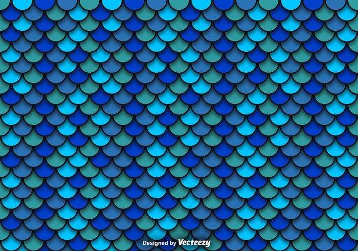 Vector Blue Pattern Of Fish Scales
