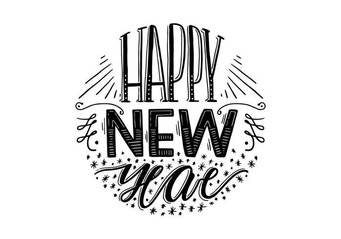 Glückliche Neujahrsbeschriftung