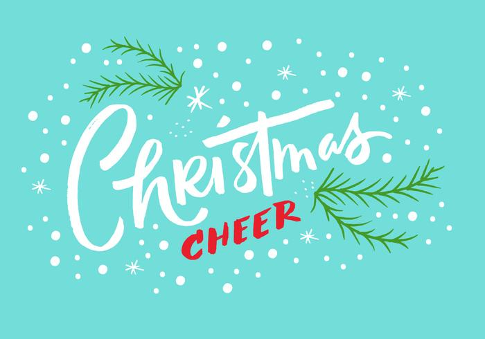 Kerstmis Cheer Lettering