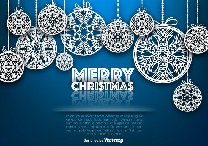 Vector Ornamental Merry Christmas Spheres