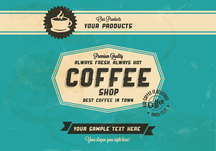 Always Hot, Always Fresh Coffee Vector