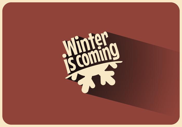 De winter is de komende schaduw vector