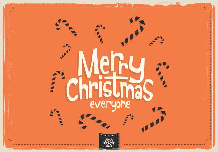 Merry Christmas Everyone Candy Vector
