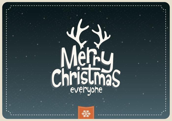 Merry Christmas Everyone Cartoon Vector