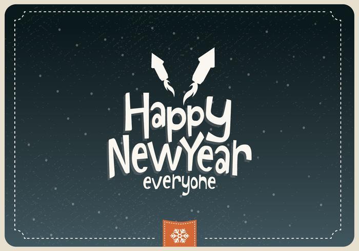 Happy New Year Everyone Vector