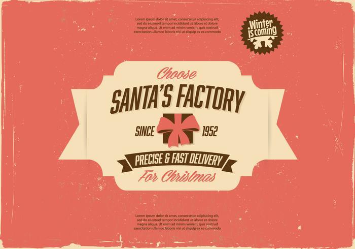 Vintage Santa's Factory Vector