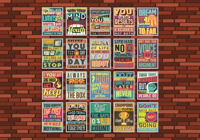 Inspirational Poster Grid Vector
