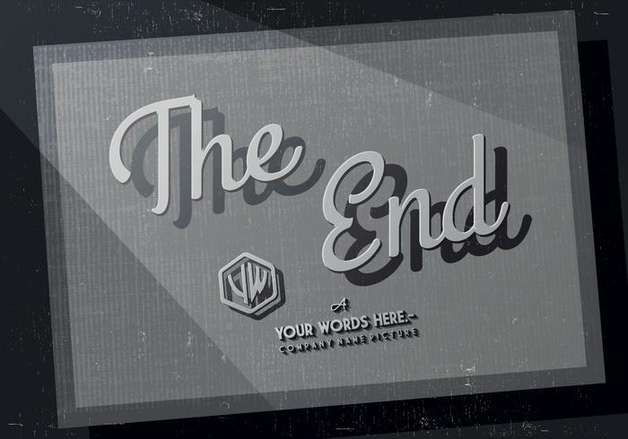 The End Credits Vector