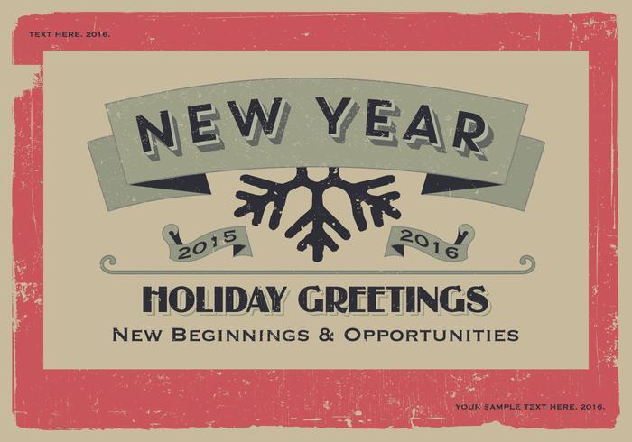 New Year New Beginnings Vector