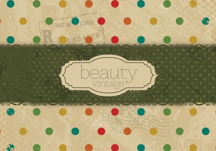 Colorful Polka Dot Beauty Vector
