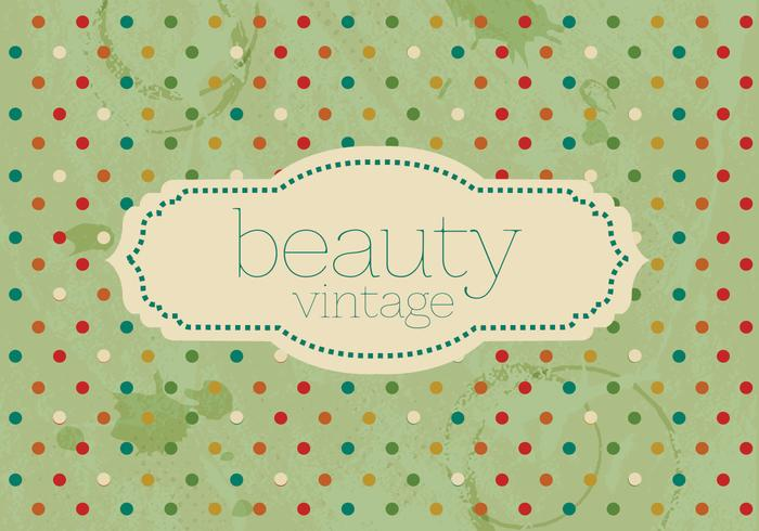 Vintage Polka Dot Beauty Vector
