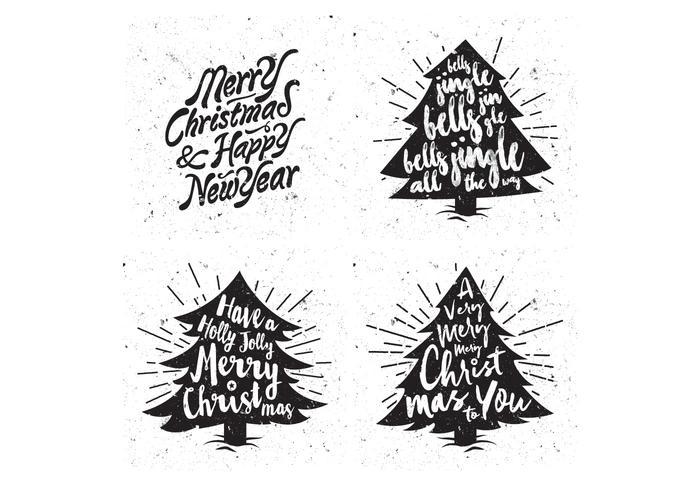 Snowy Christmas Trees Vector
