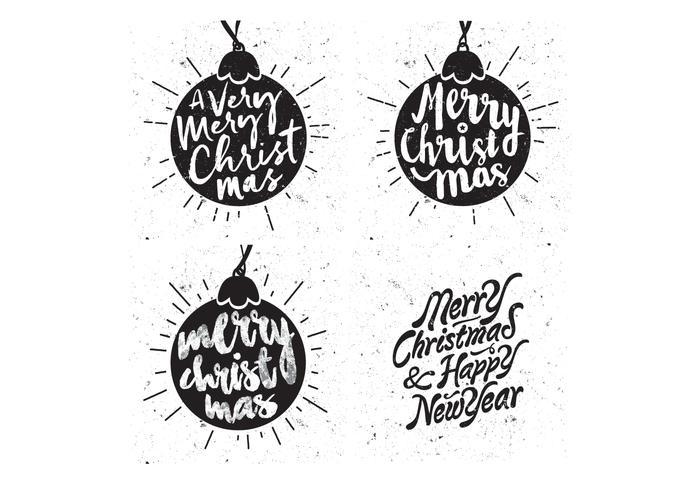 Snowy Christmas Ornaments Vector
