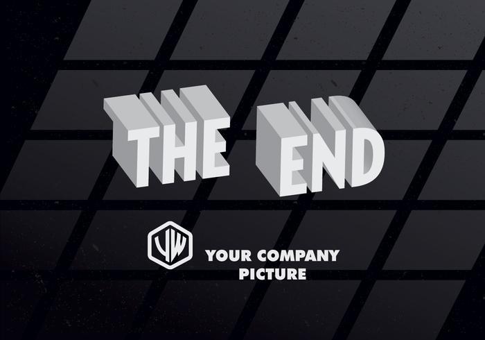 3D De End-Titel Kaart Vector