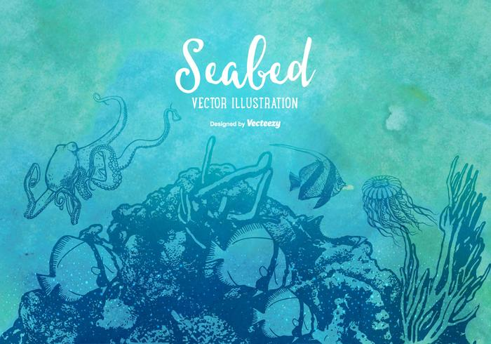 Vector Seabed Illustratie
