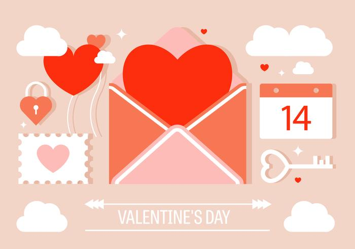 Valentinstag Vektor-Elemente