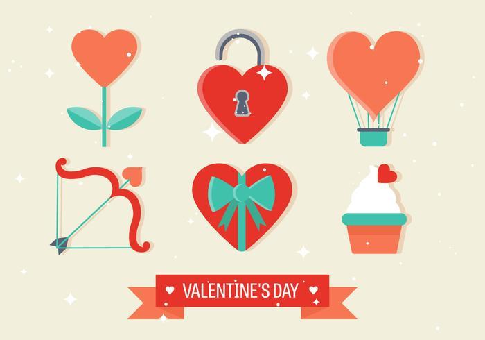 Vector Valentine's Day Elements