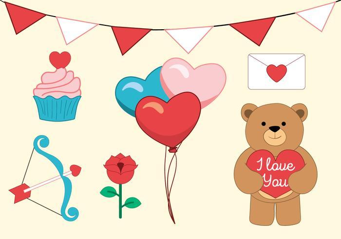 Vector Valentine's Day Accessories
