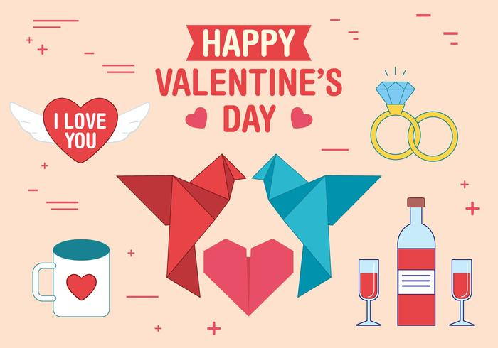 Vector Valentinstag Zubehör