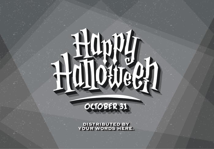 Tarjeta de título del vintage de Halloween