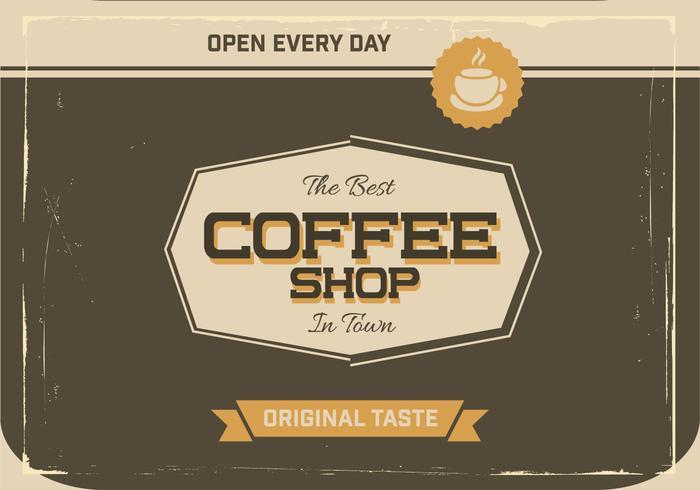 Espresso Coffee Shop Vector