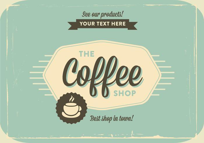 Coffee Shop Vintage Vector
