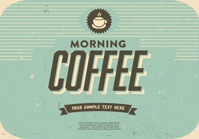 Morgon kaffe vektor