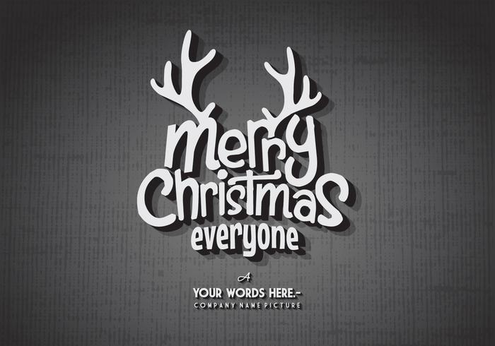 Weihnachten Weinlese-Titel-Karten-Vektor
