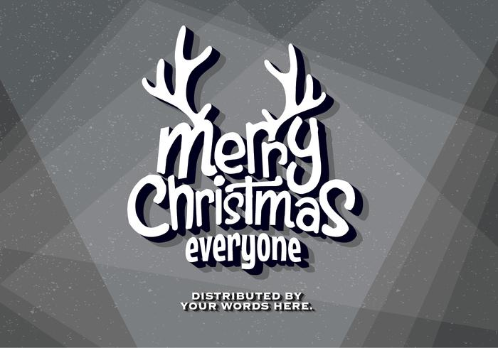 Old Movie Christmas Wishes Vector
