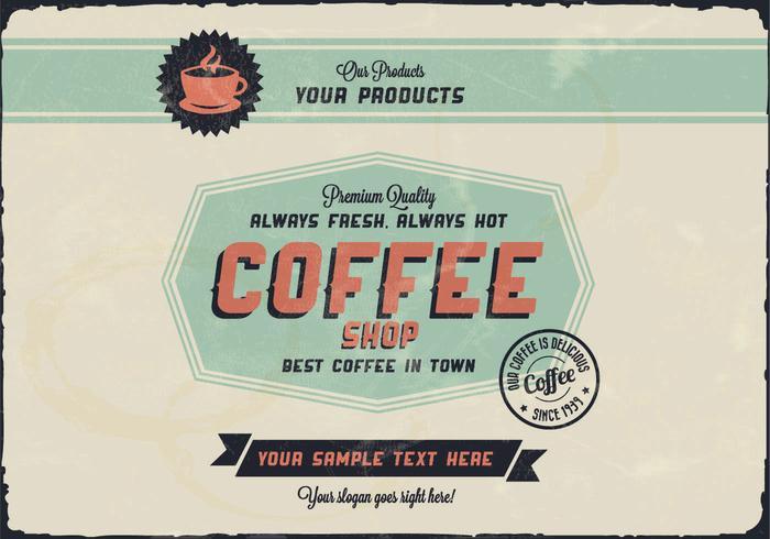 Octagon Coffee Logo Vector