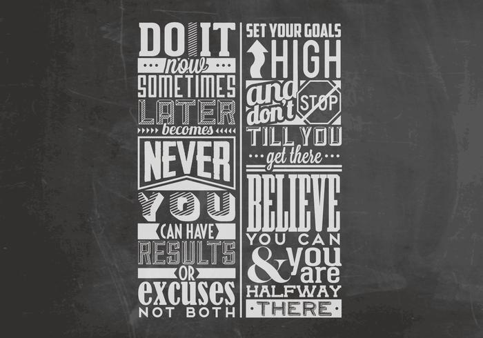 Set Your Goals Chalkboard Vector