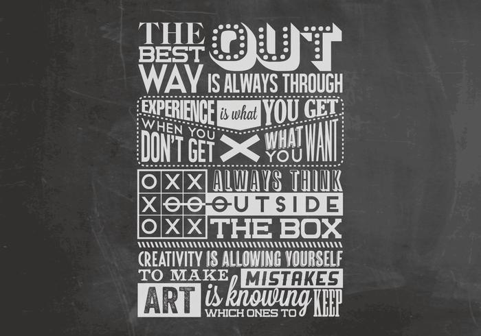 Think Outside The Box Chalkboard Vector