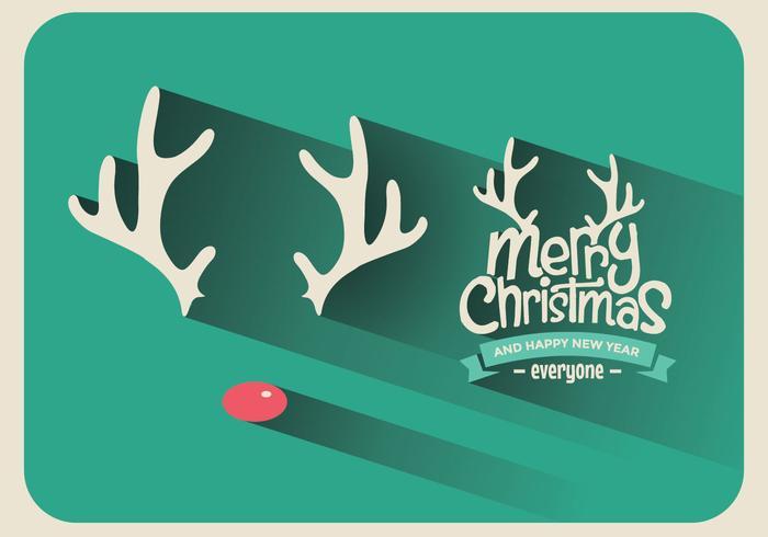 Rudolph Christmas Sign Vector
