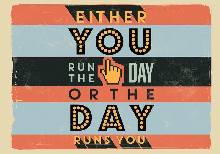 Run The Day Vector