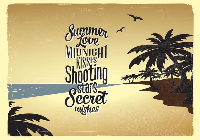 Romantic Summer Beach Vector