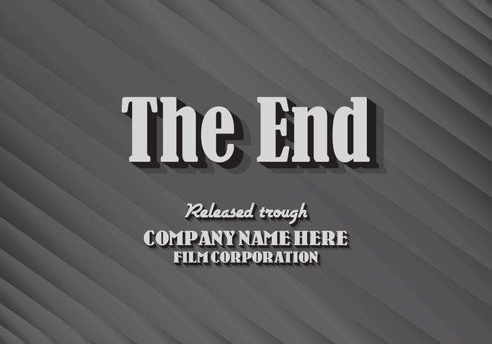 Textured The End Title Card Vector