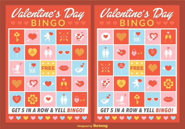 Vector Valentine Bingo Cards Download Free Vector Art – Valentine Bingo Card