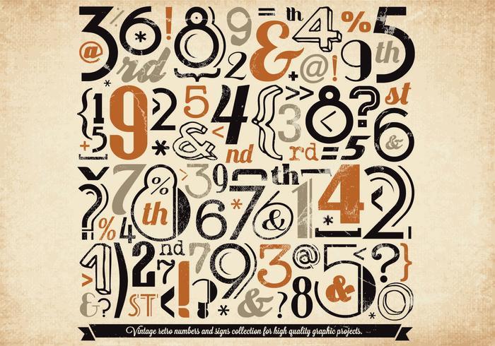 Halloween Colored Numbers Vector