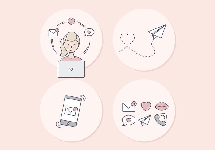 Vektor Valentinstag Illustration