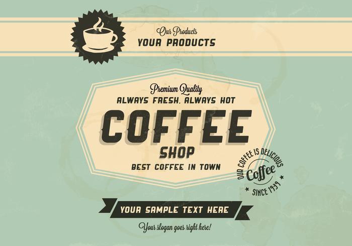 Best Coffee In Town Vector