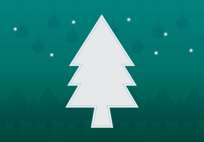 Modelo do quadro da árvore de Natal