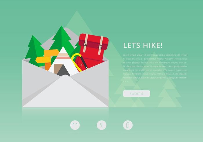 Hiking Invitation Template