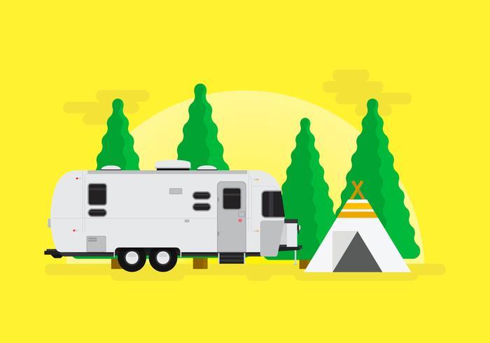 Sapin Jungle Camping With Airstream