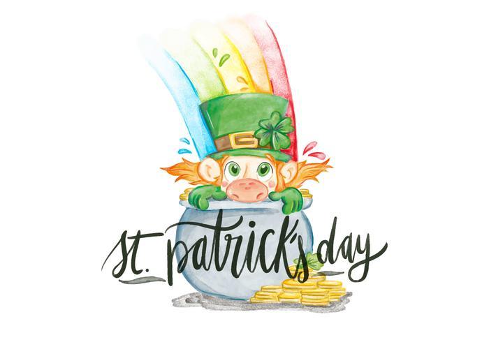 Saint Patrick's Day Watercolor Illustration