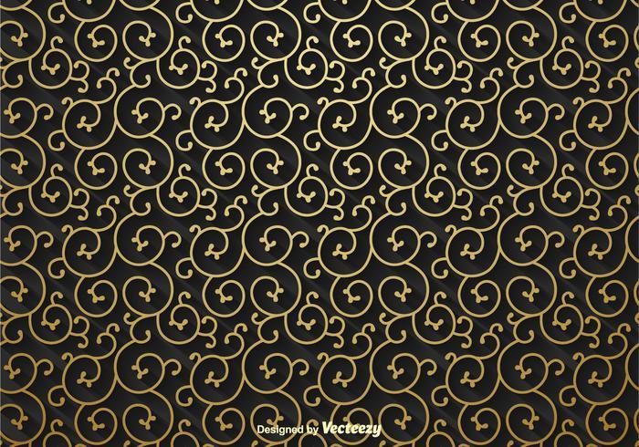 Gouden Scrollwork Vector Achtergrond