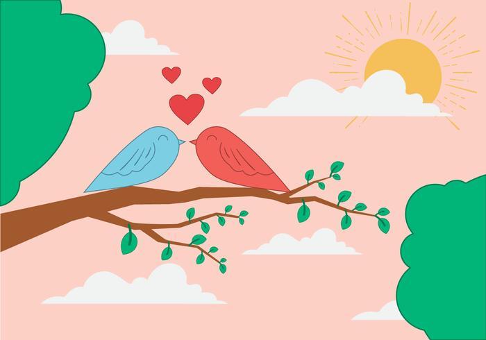 Vector Valentine's Day Doves