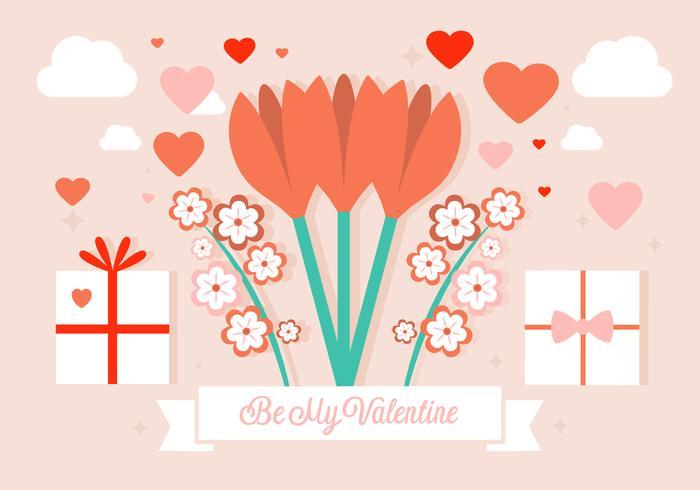 Be My Valentine Vector Background